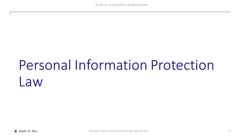 Personal Information Protection Law