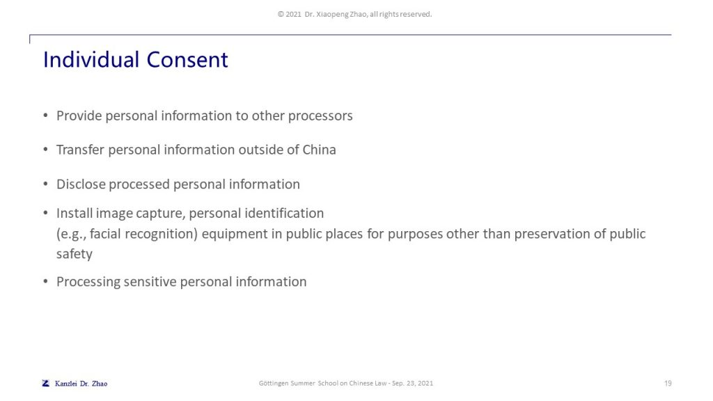 Individual Consent