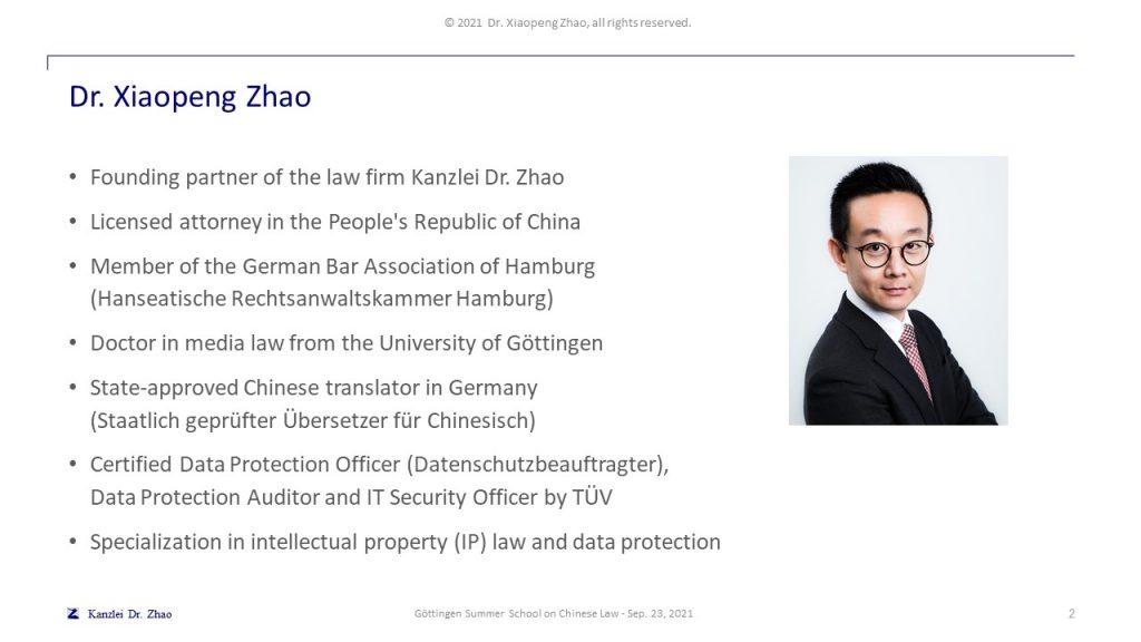 Dr. Xiaopeng Zhao