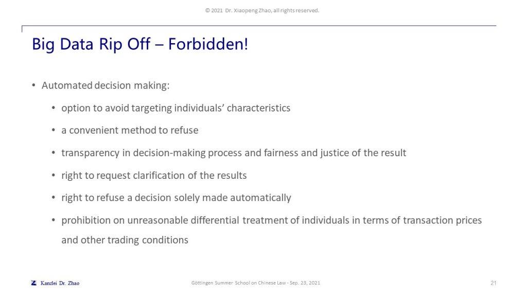 Big Data Rip Off – Forbidden!