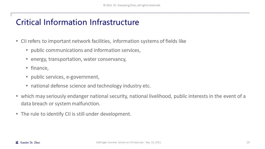 Critical Information Infrastructure
