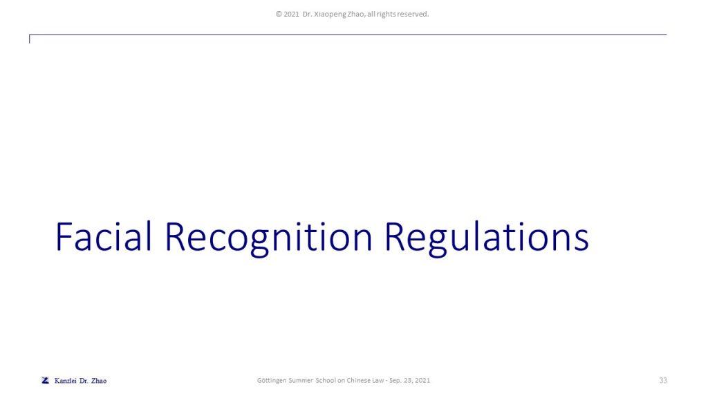 Facial Recognition Regulations