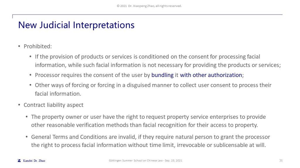 New Judicial Interpretations
