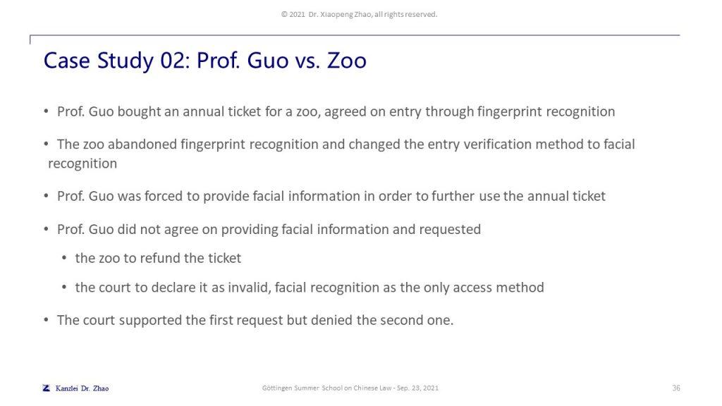 Case Study 02: Prof. Guo vs. Zoo