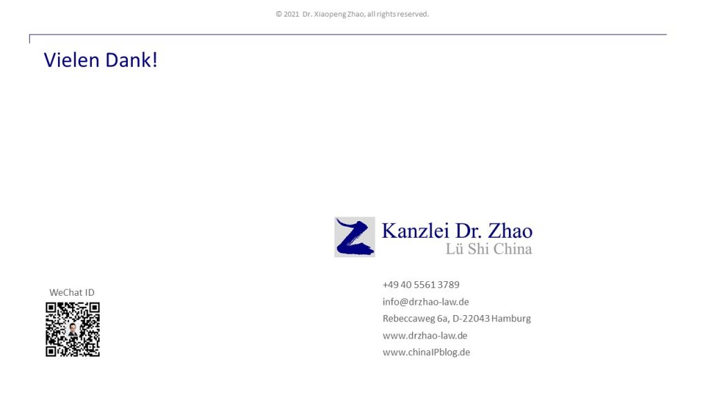 Kanzlei Dr. Zhao Contact Information